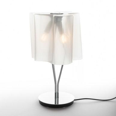 Итальянская настольная лампа Logico Mini Gloss silk/Chrome фабрики ARTEMIDE