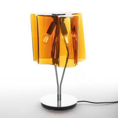Итальянская настольная лампа Logico Mini Tobacco/Chrome фабрики ARTEMIDE