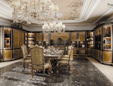 Итальянская кухня Deluxe Walnut фабрики Modenese Gastone
