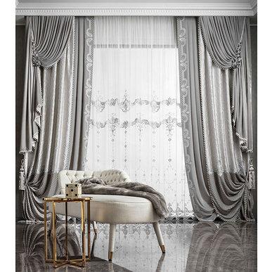 Итальянские шторы и тюли AURA 01 фабрики Chicca Orlando