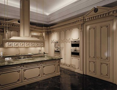 Итальянская кухня Romantica lacquered and patinated фабрики Modenese Gastone