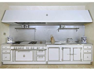 Итальянская кухня PEARL WHITE & POLISHED CHROME фабрики OFFICINE GULLO