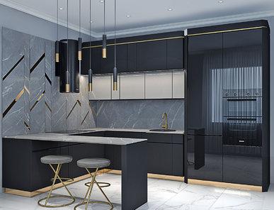 Итальянская кухня Carato 3D 02 фабрики PLATINO MOBILI
