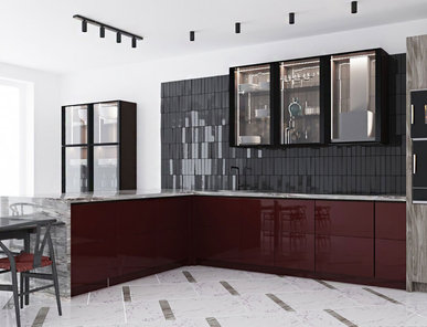 Итальянская кухня Como 3D 03 фабрики PLATINO MOBILI