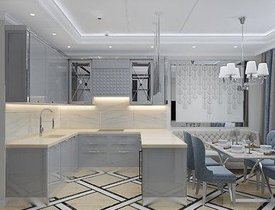 Итальянская кухня Deco 3D 03 фабрики PLATINO MOBILI