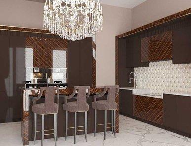 Итальянская кухня Makassar 3D 03 фабрики PLATINO MOBILI