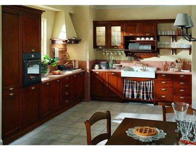 Итальянская кухня Contea Legno Noce фабрики TOMASSI