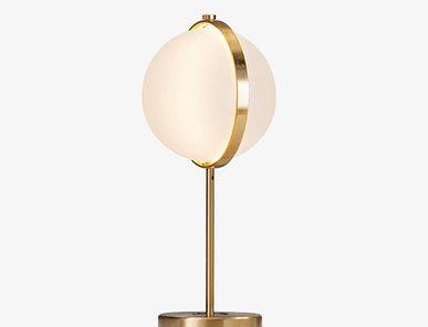 Итальянская настольная лампа Orion M фабрики Baroncelli