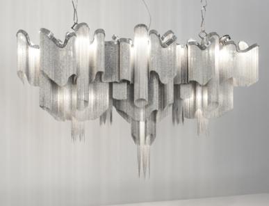 Итальянская люстра Stream Long от дизайнера Christian Lava