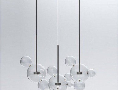 Светильник Bolle Linear 14 Bubbles Black от дизайнеров Giapato & Coombes