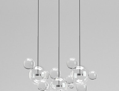 Светильник Bolle Linear 14 Bubbles Nickel от дизайнеров Giapato & Coombes