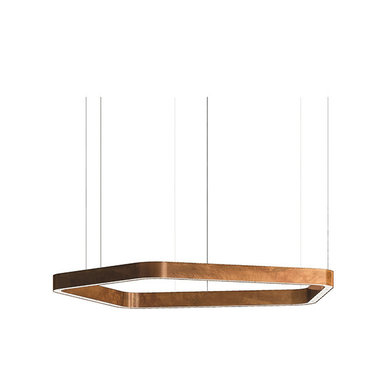 Люстра Light Ring Horizontal Polygonal D70 Copper от дизайнера Massimo Castagna