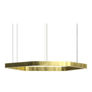 Люстра Light Ring Horizontal Polygonal D90 Brass от дизайнера Massimo Castagna