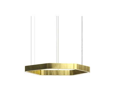 Люстра Light Ring Horizontal Polygonal D50 Brass от дизайнера Massimo Castagna