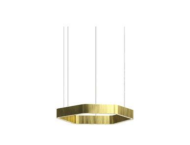 Люстра Light Ring Horizontal Polygonal D30 Brass от дизайнера Massimo Castagna