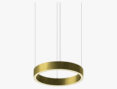 Люстра Light Ring Horizontal D40 Brass от дизайнера Massimo Castagna