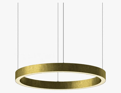 Люстра Light Ring Horizontal D80 Brass от дизайнера Massimo Castagna