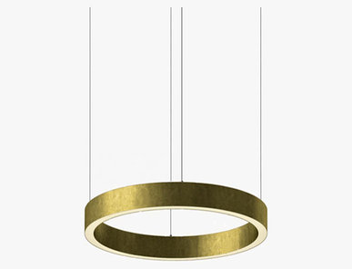 Люстра Light Ring Horizontal D50 Brass от дизайнера Massimo Castagna