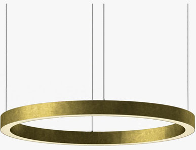 Люстра Light Ring Horizontal D90 Brass от дизайнера Massimo Castagna