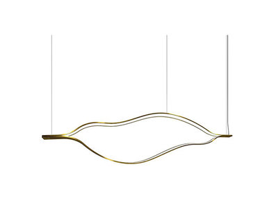 Люстра Tape Light L100 Brass от дизайнера Massimo Castagna