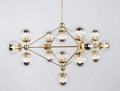 Люстра Modo Chandelier Gold от дизайнера Jason Miller