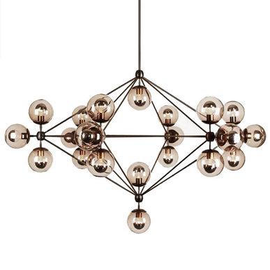 Люстра Modo Chandelier 21 Globes от дизайнера Jason Miller