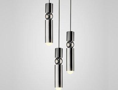 Светильник подвесной Fulcrum Light 3 lamps Chrome от дизайнера Lee Broom