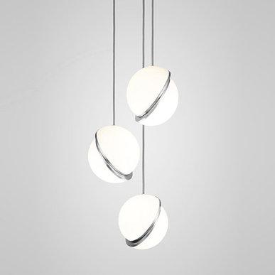 Светильник подвесной Crescent Chandelier 3 Chrome от дизайнера Lee Broom