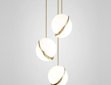 Светильник подвесной Crescent Chandelier 3 Gold от дизайнера Lee Broom
