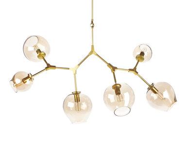 Люстра Branching Bubbles 6 Gold от дизайнера Lindsey Adelman