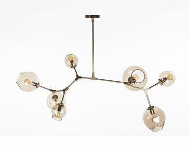 Люстра Branching Bubbles 7 Gold от дизайнера Lindsey Adelman