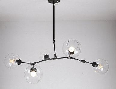 Люстра Branching Bubbles 5 Black от дизайнера Lindsey Adelman