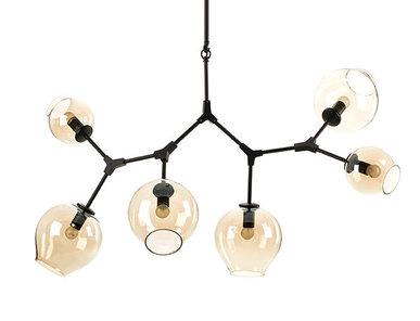 Люстра Branching Bubbles 6 Black от дизайнера Lindsey Adelman