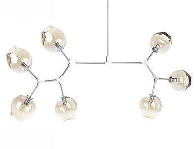 Люстра Branching Bubbles 7 Long Nickel от дизайнера Lindsey Adelman
