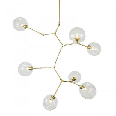Люстра Branching Bubbles 7 Vertical Gold от дизайнера Lindsey Adelman