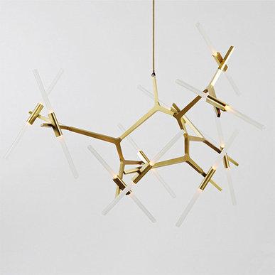 Люстра Agnes 20 Gold от дизайнера Lindsey Adelman