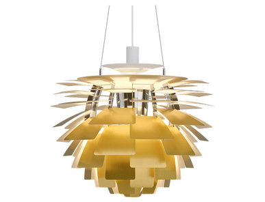 Люстра PH Artichoke Gold D48 от дизайнера Poul Henningsen
