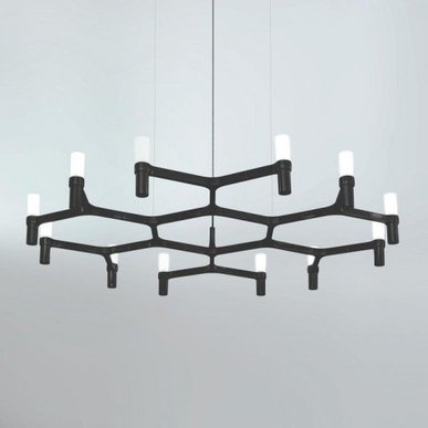 Люстра Crown Plana Mega Black L110 от дизайнерской студии Jahs+Laub