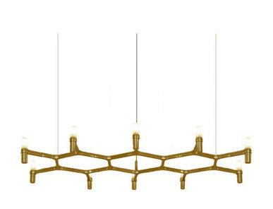Люстра Crown Plana Mega L140 Gold от дизайнерской студии Jahs+Laub
