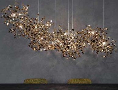 Люстра Argent L140 Gold от дизайнера Nicolas Terzani