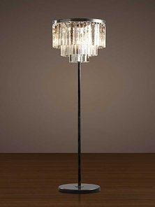 Торшер Odeon Clear Glass Floor Lamp фабрики Restoration Hardware
