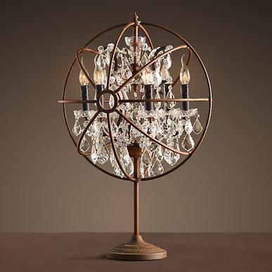Настольная лампа Loft Orb Foucault's Crystal Table фабрики Restoration Hardware