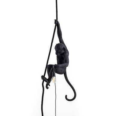 Светильник Monkey Black Lamp Ceiling фабрики Seletti
