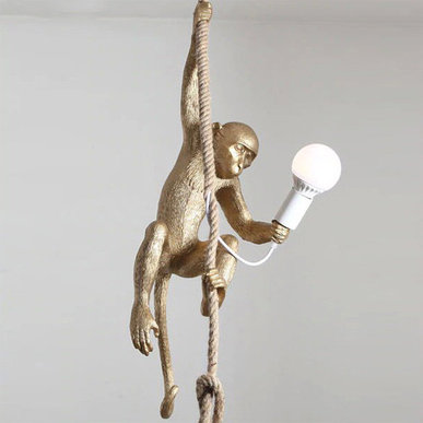 Светильник Monkey Gold Lamp Ceiling фабрики Seletti