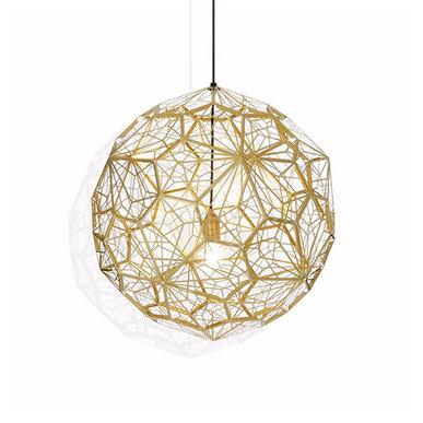 Светильник Etch Web Gold D90 от дизайнера Tom Dixon