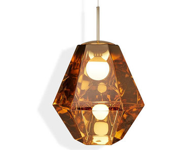 Светильник Cut Tall Pendant Gold от дизайнера Tom Dixon