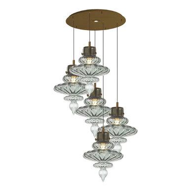 Люстра BASILICA ROUND 5 LIGHT ANTIQUE BRASS фабрики HEATHFIELD & CO