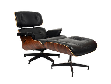 Кресло Eames Style Lounge Chair & Ottoman Black Premium U.S. Version от дизайнера CHARLES & RAY EAMES