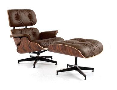 Кресло Eames Style Lounge Chair & Ottoman Premium состаренная кожа от дизайнера CHARLES & RAY EAMES