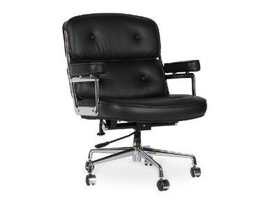 Кресло Eames Style Lobby Chair ES104 черная кожа от дизайнера CHARLES & RAY EAMES